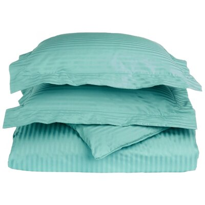100% Egyptian-Quality Cotton 3 Piece Duvet Set Size: King/Cal.King, Color: Teal