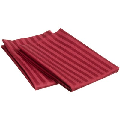 Pillow Case Size: King, Color: Burgundy