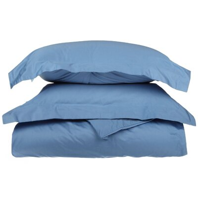 1500 Thread Count Premium Long-Staple Combed Cotton Solid 3 Piece Duvet Cover Set Size: Full/Queen, Color: Light Blue