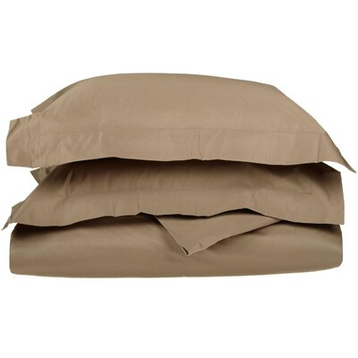 Patric 1500 Thread Count Premium Long-Staple Combed Cotton Solid 3 Piece Duvet Cover Set Size: Full/Queen, Color: Taupe