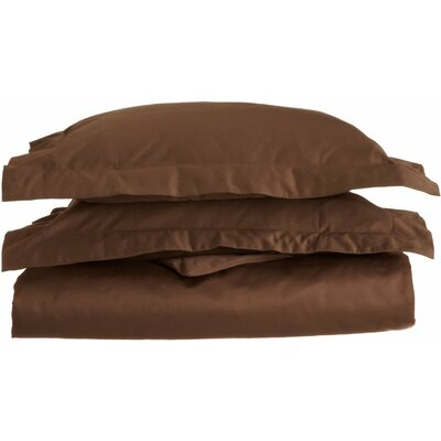 Patric 1500 Thread Count Premium Long-Staple Combed Cotton Solid 3 Piece Duvet Cover Set Size: Full/Queen, Color: Mocha