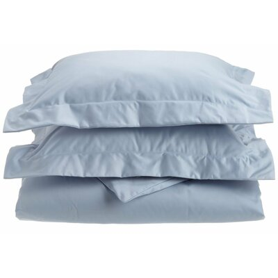 Uinta Cotton Blend 3 Piece Duvet Cover Set Color: Light Blue, Size: Full / Queen