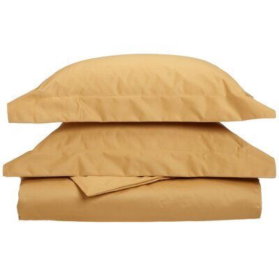 Uinta Cotton Blend 3 Piece Duvet Cover Set Color: Gold, Size: King / California King