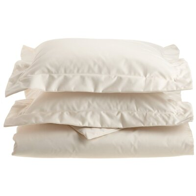 Uinta Cotton Blend 3 Piece Duvet Cover Set Color: Ivory, Size: King / California King
