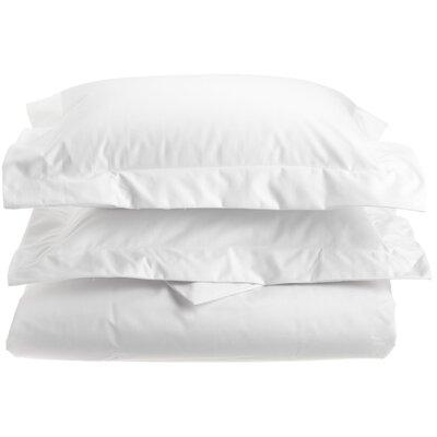 Uinta Cotton Blend 3 Piece Duvet Cover Set Color: White, Size: King / California King