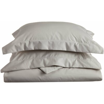 Uinta Cotton Blend 3 Piece Duvet Cover Set Color: Stone, Size: King / California King