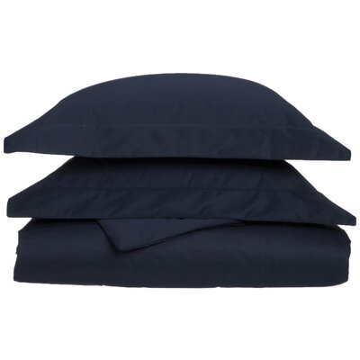Uinta Cotton Blend 3 Piece Duvet Cover Set Size: Full / Queen, Color: Navy Blue