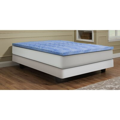 Deluxe Convoluted Gel Memory Foam Topper Size: King