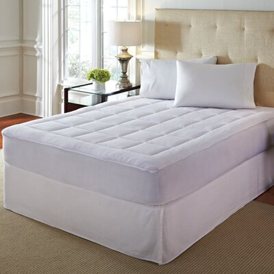 Overfilled Soft Microplush Mattress Pad Size: Queen