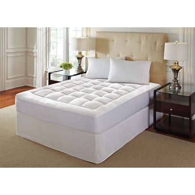 Washable Memory Foam Mattress Pad Size: Queen