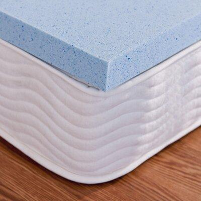 2 Gel Memory Foam Topper Size: Full