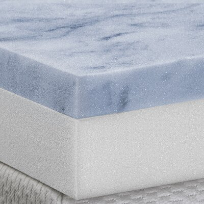 4 Gel Memory Foam Mattress Topper Size: Twin Extra Large
