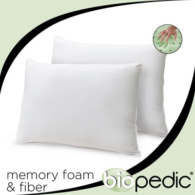 Classic Bed Memory Foam Pillow Size: Queen