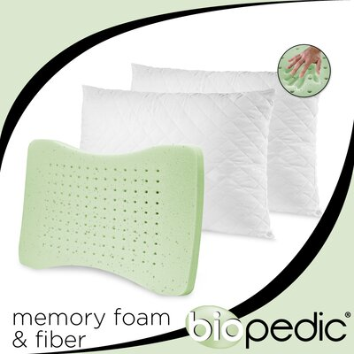 Quilted Memory Foam Standard Pillow