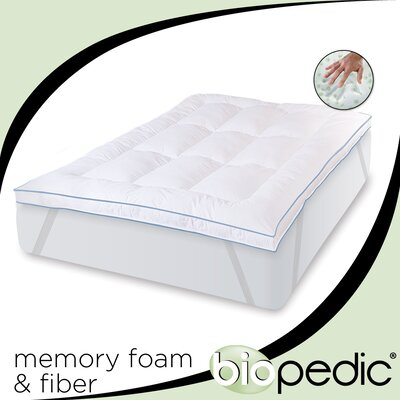 Deluxe 3 Memory Foam Mattress Topper Size: Queen