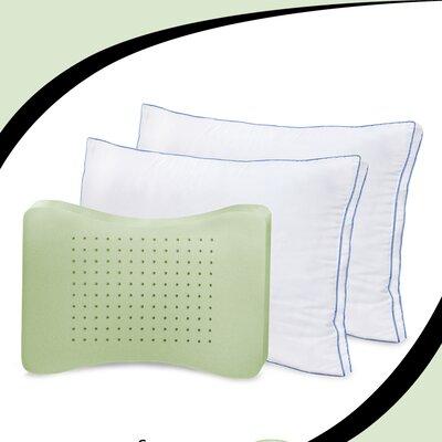 Deluxe Gusseted Memory Foam/Polyfill Standard Pillow