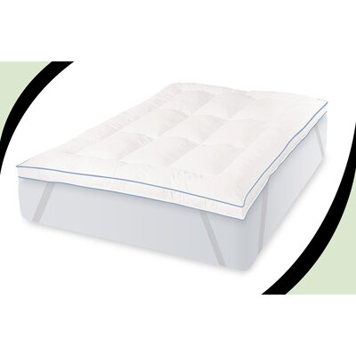 Deluxe 3 Gel Memory Foam Mattress Topper Size: Queen