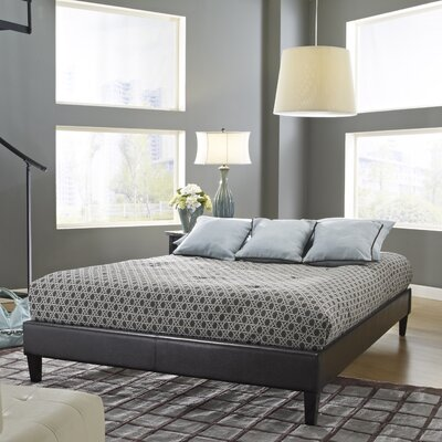 Upholstered Platform Bed Upholstery: Brown, Size: Full