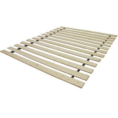 Attached Solid Wood Bed Support Slats - Bunkie Board Size: Full, Style: Standard