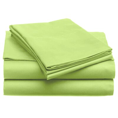 Quintal Sheet Set Size: Full, Color: Lime