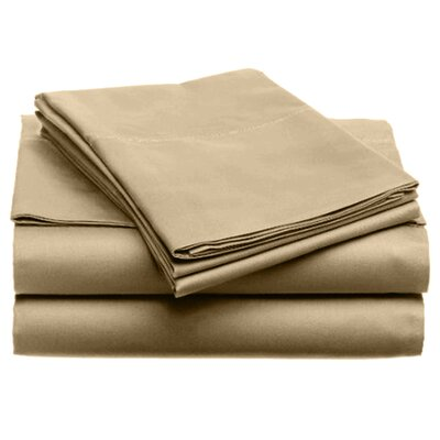 Quintal Sheet Set Size: Twin, Color: Taupe