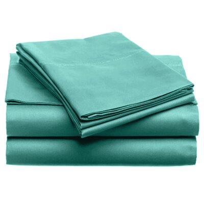 Quintal Sheet Set Size: Twin, Color: Teal