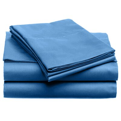 Quintal Sheet Set Color: Blue, Size: Queen