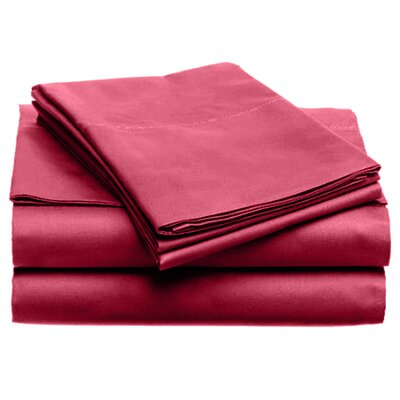 Quintal Sheet Set Size: Queen, Color: Red