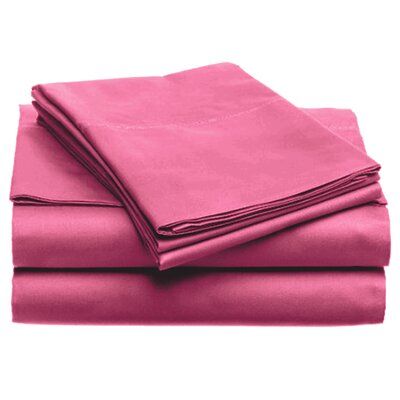 Quintal Sheet Set Size: King, Color: Pink