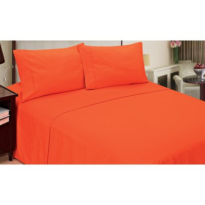 Quintal Sheet Set Size: King, Color: Orange