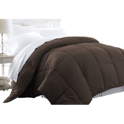 Becky Cameron Plush All Season Down Alternative Comforter Color: Chocolate, Size: Twin / Twin XL