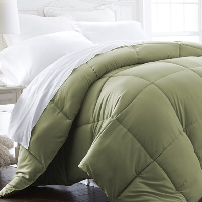 Becky Cameron Plush All Season Down Alternative Comforter Color: Sage, Size: Twin / Twin XL