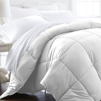 Becky Cameron Plush All Season Down Alternative Comforter Color: White, Size: Twin / Twin XL