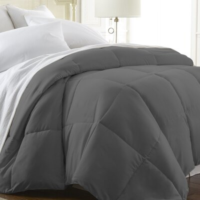 All Season Down Alternative Comforter Color: Gray, Size: King