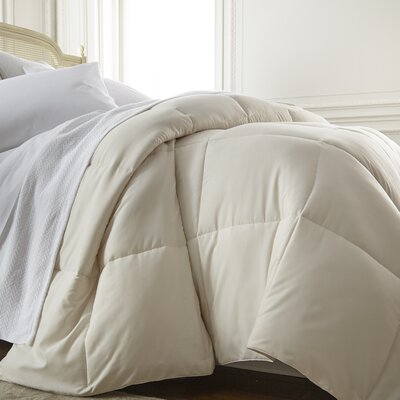 All Season Down Alternative Comforter Color: Ivory, Size: Queen