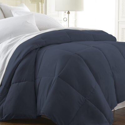 All Season Down Alternative Comforter Color: Navy, Size: Queen