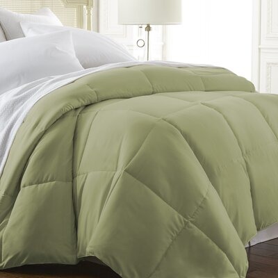 All Season Down Alternative Comforter Color: Sage, Size: King