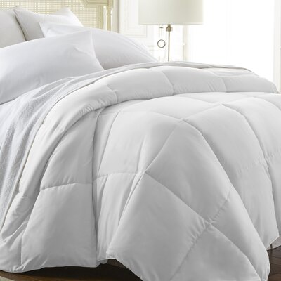 All Season Down Alternative Comforter Color: White, Size: Twin