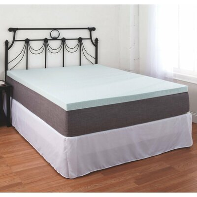 Gel Memory Foam Mattress Topper Size: Queen