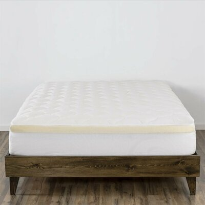 Double Thick 3 Memory Foam Mattress Pad Size: California King
