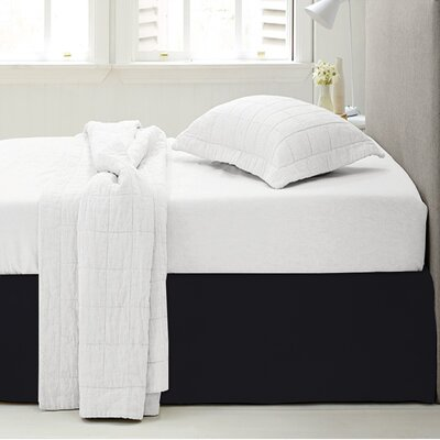 Microfiber 1500 Thread Count Bedskirt-Dust Ruffle Color: Black, Size: Queen