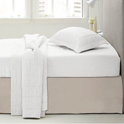 Microfiber 1500 Thread Count Bedskirt-Dust Ruffle Size: Twin, Color: Beige
