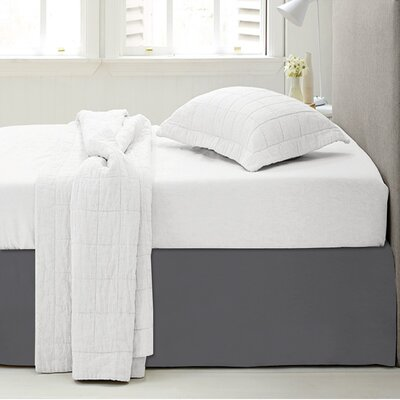 Microfiber 1500 Thread Count Bedskirt-Dust Ruffle Size: Queen, Color: Gray