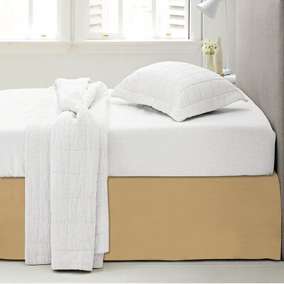 Microfiber 1500 Thread Count Bedskirt-Dust Ruffle Size: Full, Color: Camel