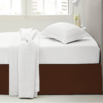 Microfiber 1500 Thread Count Bedskirt-Dust Ruffle Size: King, Color: Chocolate Brown