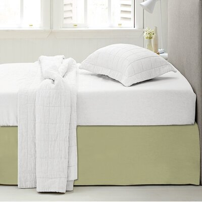 Microfiber 1500 Thread Count Bedskirt-Dust Ruffle Size: Twin, Color: Sage