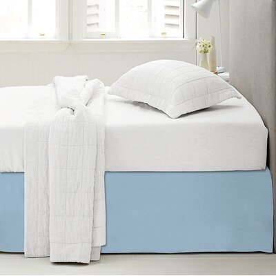 Microfiber 1500 Thread Count Bedskirt-Dust Ruffle Size: Twin, Color: Light Blue