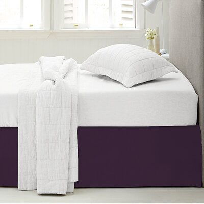 Microfiber 1500 Thread Count Bedskirt-Dust Ruffle Size: Twin, Color: Purple