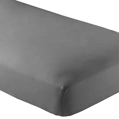 Wrinkle Resistant 200 Thread Count Fitted Sheet Size: Twin XL, Color: Grey