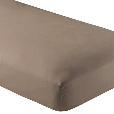 Wrinkle Resistant 200 Thread Count Fitted Sheet Size: Twin XL, Color: Taupe